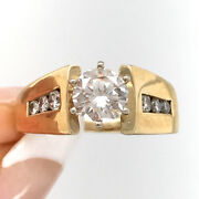 1.05ct Round Brilliant Cut Diamond Engagement Ring In 14k Yellow Gold