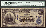 10 1902 Pb The First National Bank Of Banning, California Ch 9459 Pmg 20