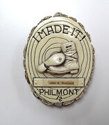 Early 1960and039s Philmont Boots Shoes Ceramic Plaque Award Boy Scout Nm 53