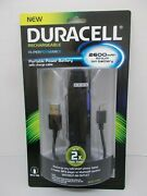 Duracell Rechargable Portable Power Battery With Micro Usb Charge Cable