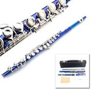 New Standard Blue School Band Student 16 Closed C Flute With Caseandaccessories