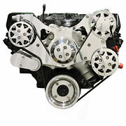 Billet Serpentine Front Drive System - Big Block Ford - Polished No Ac And W/p/s