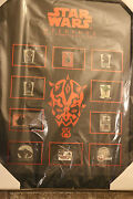Wdw Star Wars Weekends 2012 Framed Pin Set Including Rare Completer Pin Le 2000