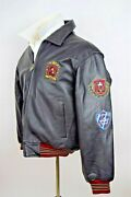 Mickey Mouse Brown Leather Jacket Size Medium Authentic