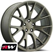 20 X9.5 Inch For Dodge Charger Hellcat Aftermarket Wheels Bronze Rims