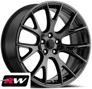20 For Dodge Charger Hellcat Aftermarket Wheels Gloss Black Staggered Rims