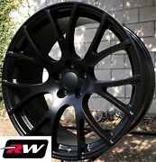 20 Inch 20 X9 For Dodge Charger Hellcat Aftermarket Wheels Satin Black Rims