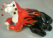 Annaco Creations Retired Whimsiclay Large Cat Hot Rod By Amy Lacombe 28308 Nib
