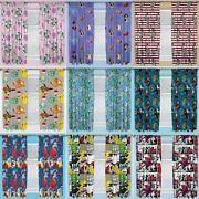 Official Licensed Character Pleated Curtains 54 Or 72 Drop Disney Boys Girls