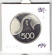 Cyprus 500 Mils Nd1978, Silver Km48a Proof