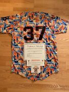 Sean Hjelle San Jose Giants Game Used Autographed Signed Jersey Sf San Francisco