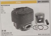 11060201202 Cylinder And Piston Complete Chainsaw Stihl 070 090 3.2oz Ms720 Ø 58