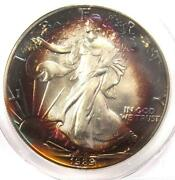 1989 Toned American Silver Eagle Dollar 1 Ase - Pcgs Ms67 - Rainbow Toning Coin