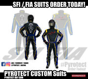 Pyrotect Custom Suits Sfi-1/sfi-5/fia Xxs-5xl Made To Order All Types Of Racing