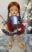Vintage Maggie Muggins Composition Doll Antique Red Wig Re-painted Composition