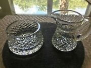 Waterford Crystal Alana Pattern Creamer And Sugar. Almost Never Used