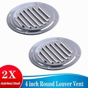 4x Stainless Steel 4 Louvred Vent Grill Cover Boat Ventilation