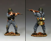 King And Country Ww2 German Army Wh080 Panzer Grenadier Standing Firing Rifle Mib