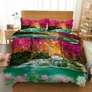 Purple Forest Pool 3d Printing Duvet Quilt Doona Covers Pillow Case Bedding Sets