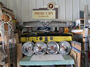 1954 Ford Nors Full Size Hubcaps 4 F88d Rare