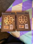 1976 Montreal Olympics Canada Stamp Set Case For Storing Air Mail Stickers