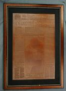 Washington Post Newspaper Nixon Resigns Embossed On Leather One Of A Kind