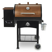 Outdoor Cooking Bbq Pit Wood Fired Pellet Grill W/ Flame Broiler By Pit Boss