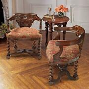 Design Toscano Brussels Library Bergere Chair Set Of Two