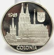1965 Argenteus Iii Ducat Silver Coin Colonia By Werner Graul Gem Prf66