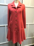100 Authentic Vintage Tweed Dress Coat With Cc Logo Buttons