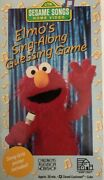 Elmoand039s Sing-along Guessing Game Sesame Street Vhs-tested-rare Vintage-ship N 24h