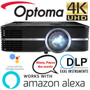 Optoma Smart Uhd51alv Alexa And Google Compatible 4k Smart Home Theater Projector