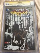 Batman 23 2013 Fan Expo Sketch Cover Variant Cgc 9.0 Ss Capullo And Snyder