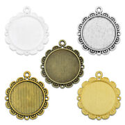 25mm 1 Inch 1 Round Pendant Tray Blank Photo Frame Cameo Cabochon Base 20 M165
