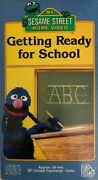 Sesame Street Getting Ready For Schoolvhs 1987extremely Rare Collectors Tape