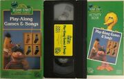 Sesame Street Play-along Games And Songs Vhs 1986 Tested Extremely Rare Ship 24 Hr