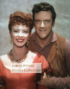 James Arness Private Collection Gunsmoke Young Matt And Kitty 8 X 10 Color Photo