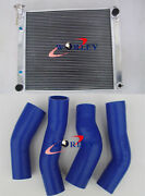 3 Rows For Nissan Fairlady 300zx Z32 Twin Turbo At/mt Aluminum Radiatorand Hose Bl
