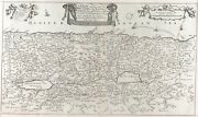 1687 King James Bible Leaf Antique Map The Land Of Canaan Holy Land Israel Art3