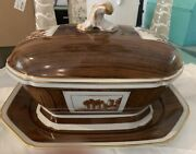 Mottahedeh Tureen And Underplate From Neiman Marcus