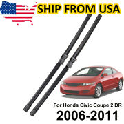 Xukey Front Wiper Blades Set For Honda Civic Coupe American Version 05-11 06 07