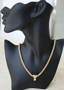 14k Gold 41 Gram Russian-style Wide Rope Necklace With Gold Slide Set