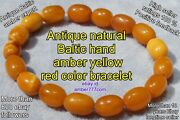 Antique Natural Baltic High Class Collectible Amber Yellow Bracelet 9 Grams