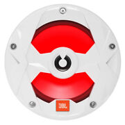 Jbl 8 Coaxial Marine Boat Speakers Multi-color Led Light 450w White Club Series