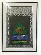 Peepal Leaf Painting Handmade Indian Miniature Floral Wall Decor Art Drawing A13