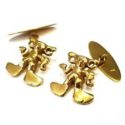 Vintage Collectible 14k Cold Mickey Mouse Cufflinks