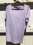Lucy Activewear Ss Workout Tee In Lilac 2x Nwt From Lucy Store Sold Out