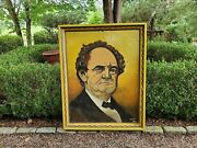 P T Barnum Circus King Folk Art Painting Unique Message For Shipping Info 52x41