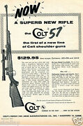 1957 Print Ad Of Colt 57 High-power Bolt Action Rifle W Coltmaster Scope