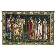 Departure Of The Knights Ladies Holy Grail Series Woven Tapestry Wall Hanging